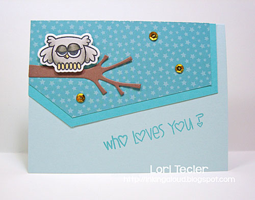 Who Loves You? card-designed by Lori Tecler/Inking Aloud-stamps and dies from Paper Smooches