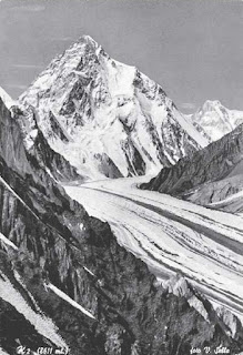 A 1909 photograph by Sella of K2, on the China-Pakistan border