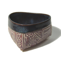 Triangular Stamped Pattern Bowl