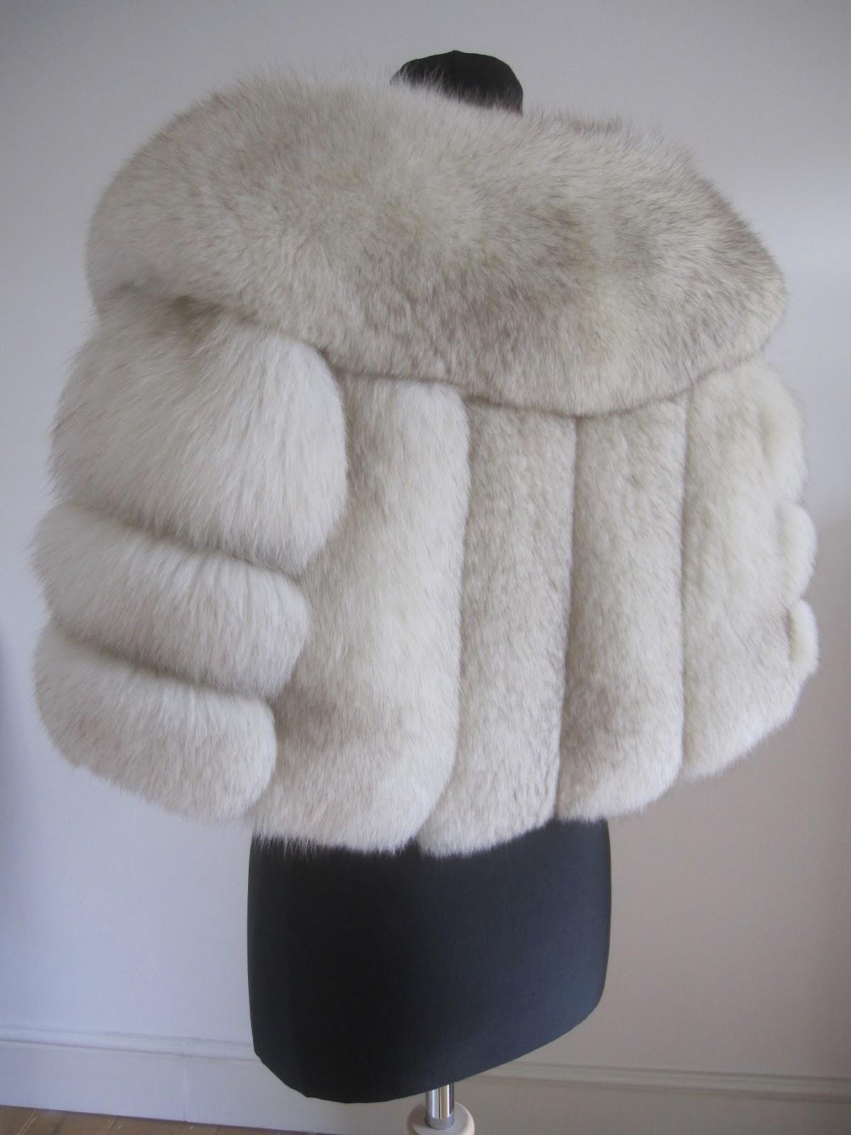 Rosie Daydream Large Norwegian Fox Fur Silver Stole Cape Shawl Wedding Ideas Bridalwear