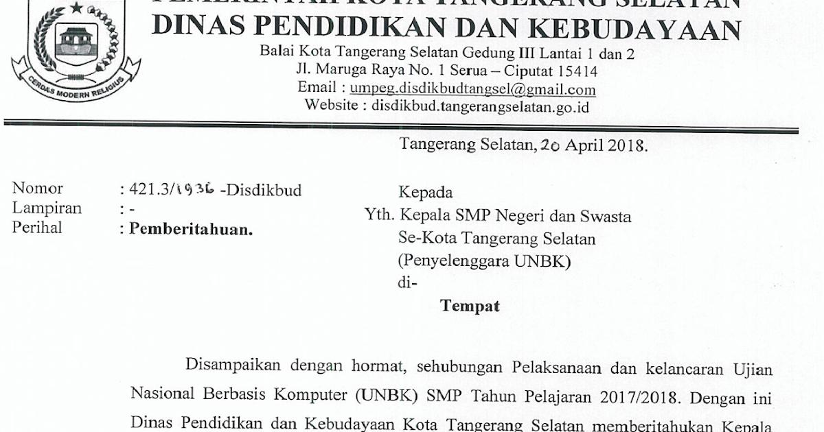 Alamat Dinas Pendidikan Kota Tangerang Selatan - Berbagai ...