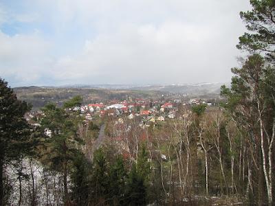 Panorama Ciężkowic spod Skałki z Krzyżem