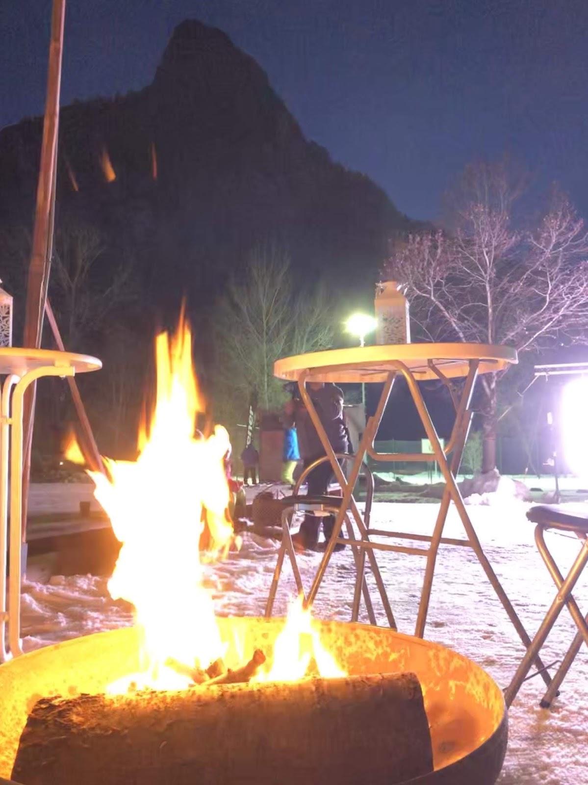 Feuerschale in den Ammergauer Alpen, 4 Gin and Drinks, Horseboxbar, Event-Bar, mobile Bar, Bayern, Garmisch-Partenkirchen, Gin-Bar, Oberammergau, König-Ludwig-Lauf by Uschi Glas 4 weddings and events