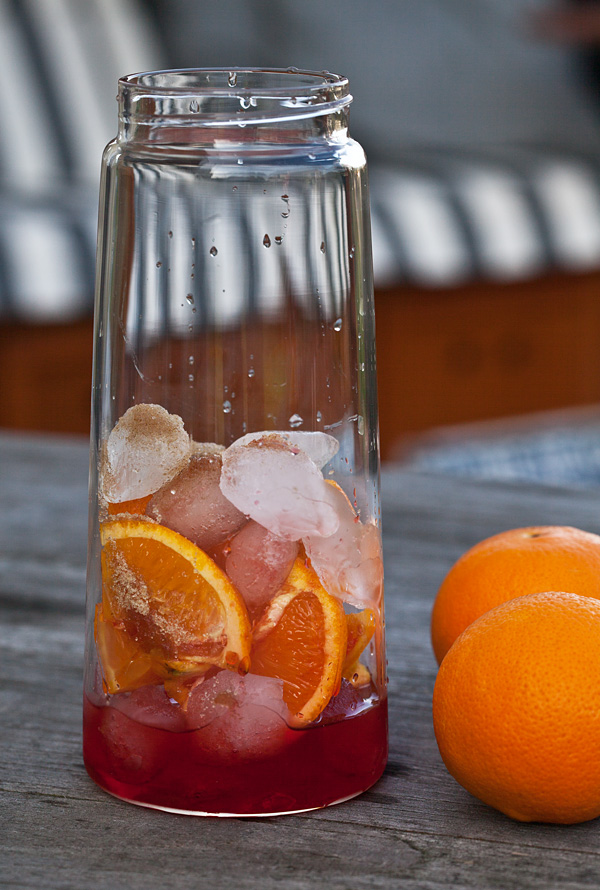 TEA-JAY on the rocks blomus Orange Sprizz Eistee Rezept