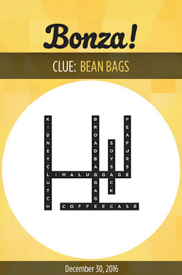December 30 2016 Bonza Daily Word Puzzle Answers