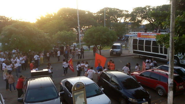 Em greve há 23 dias, professores aguardam negociações com a Prefeitura de São Luís