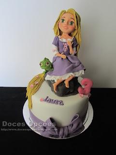 Bolo de aniversário Rapunzel