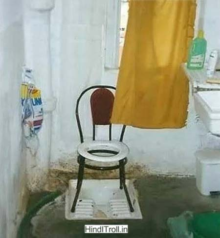 Funny Toilet Desi Indian Jugaad Funny Picture | Funny Indian Desi Jugaad Troll Funny Photo |