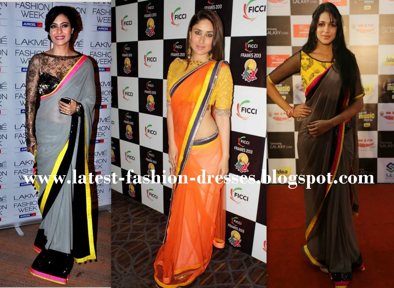 DIFFERENT COLOURS OF SAREE