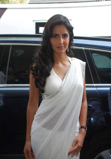 Porn Sex Celebrity Katrina Kaif Latest Stills In White Saree-9513