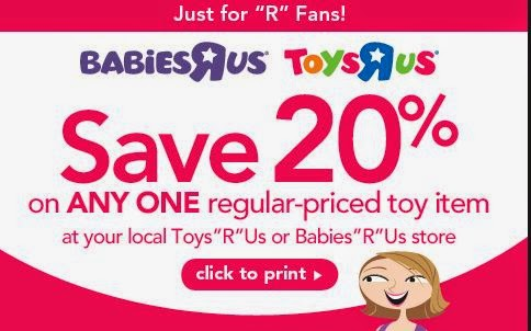 Active Toys R Us Vouchers & Deals for October 12222