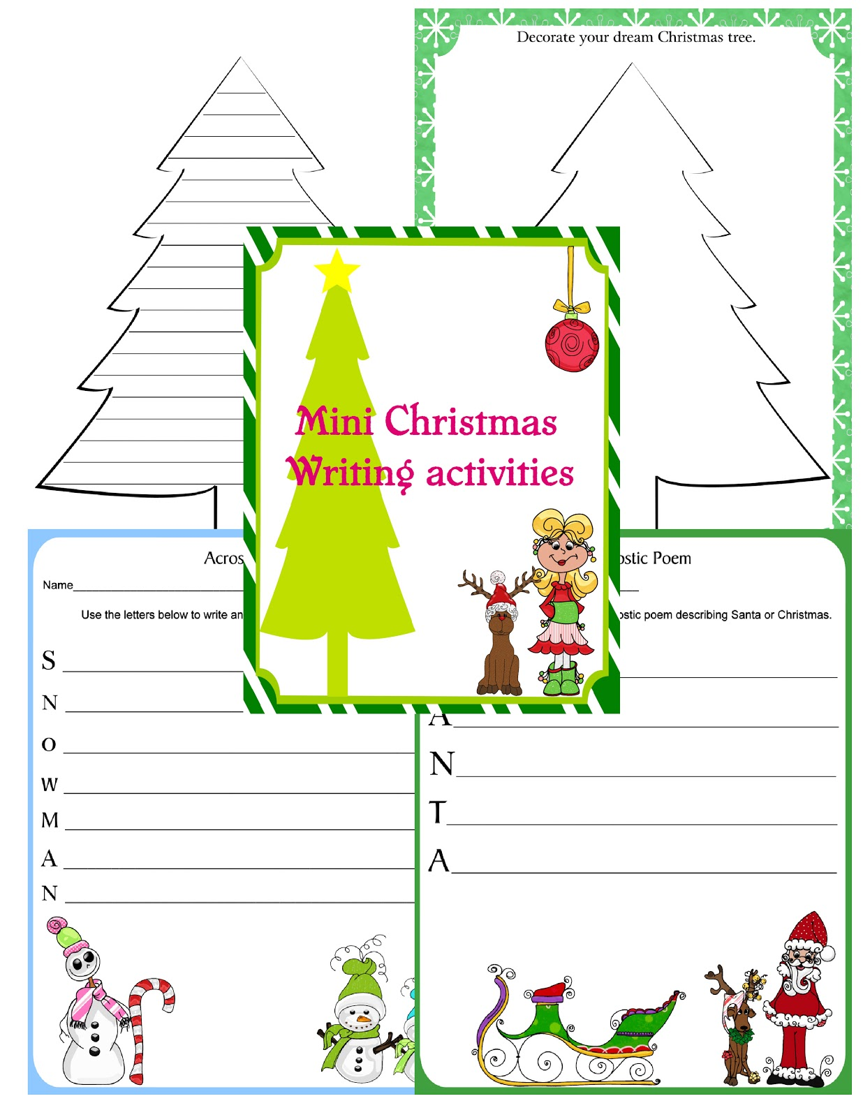 Scrap N Teach Christmas Line Paper Free Printables