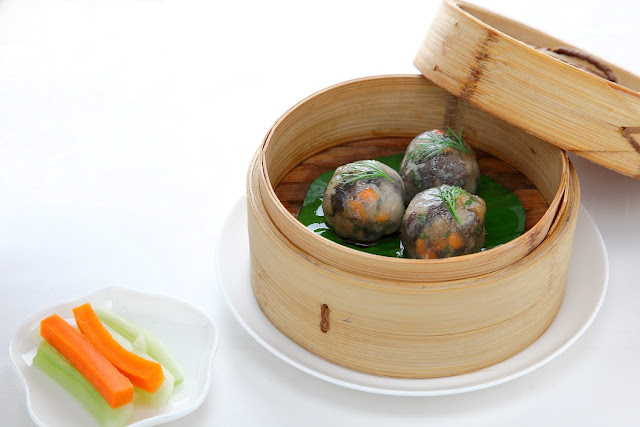 Vegetable crystal dumpling