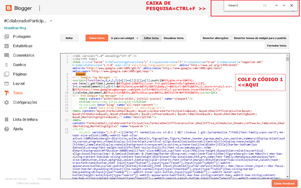 Google Tag Manager Gerenciador de Tags Como Instalar