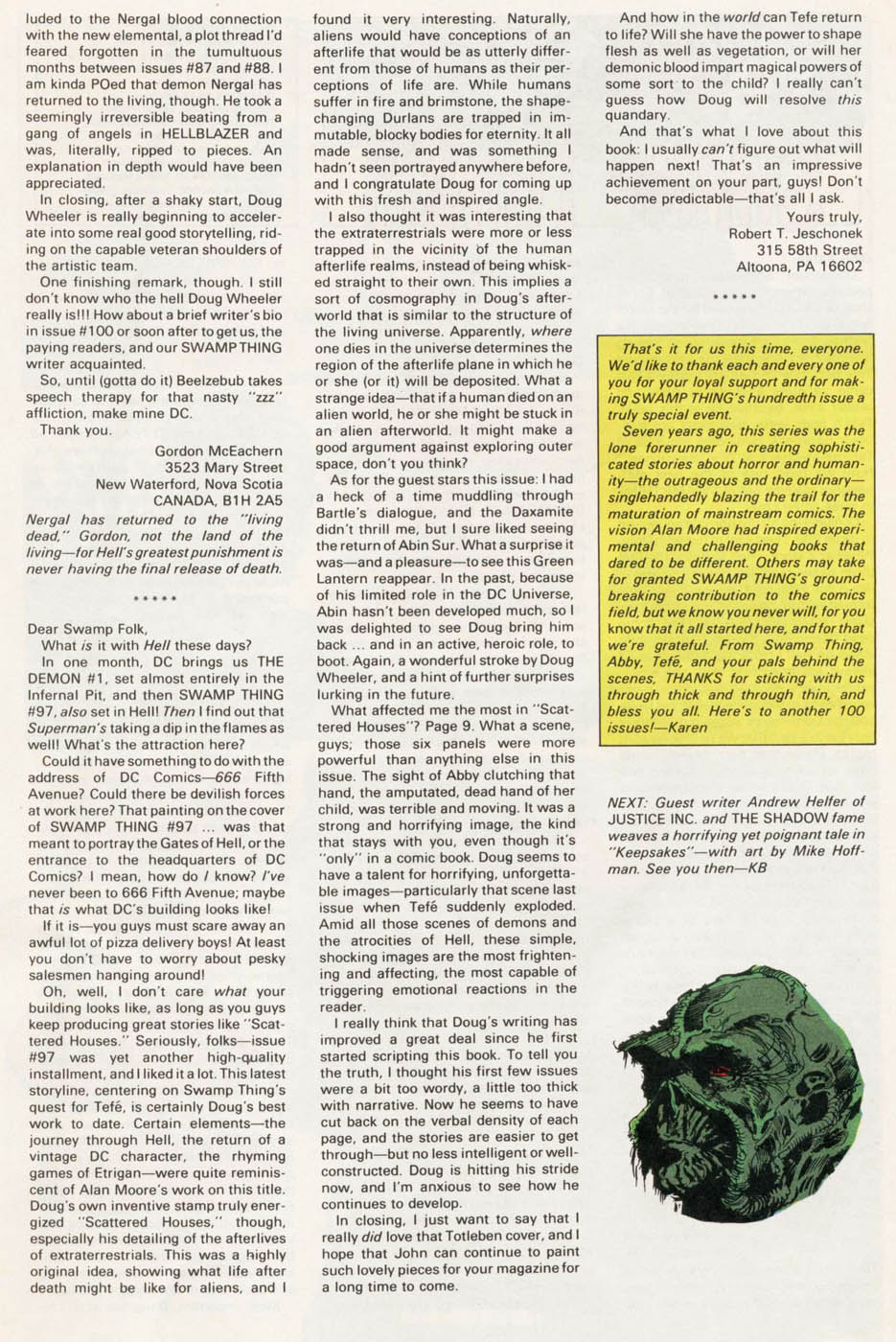 Swamp Thing (1982) Issue #100 #108 - English 39