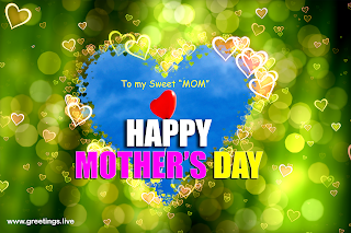 happy mothers day greetings love hearts design