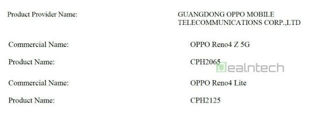 هاتف OPPO RENO 4 Z 5G