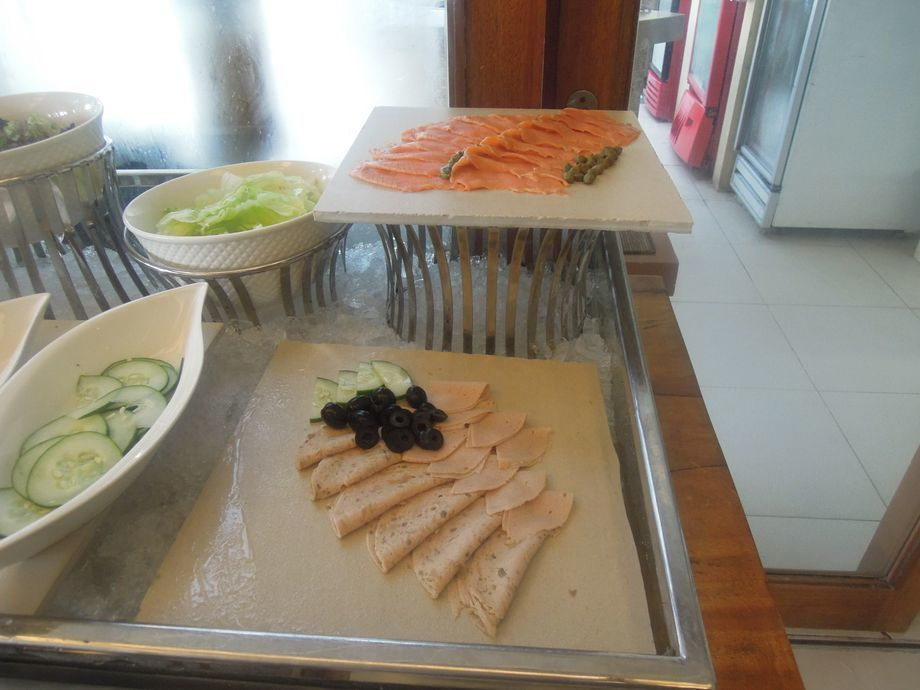 Cold cuts station at Spice Market's breakfast buffet in Misibis Bay