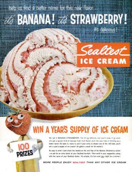 Well-liked My Pretty Baby Cried She Was a Bird: Sealtest Ice Cream (late 1950's) PI31