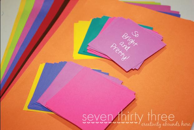Astrobrights Paper Rainbow