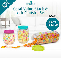 Dusdusan Coral Value Stack and Lock Canister Set ANDHIMIND