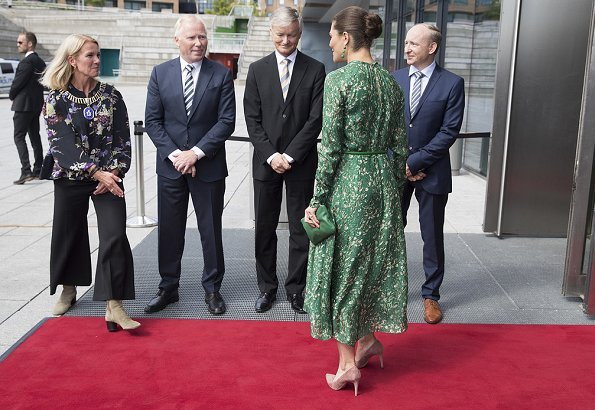 Crown Princess Victoria wore H&M dress from H&M Conscious Exclusive Collection 2018. The Ocean Challenge and SeaBOS