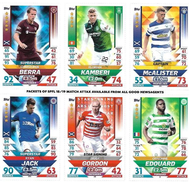 230 Match Attax SPFL 2018//19 Ross Docherty Ayr United Captain No
