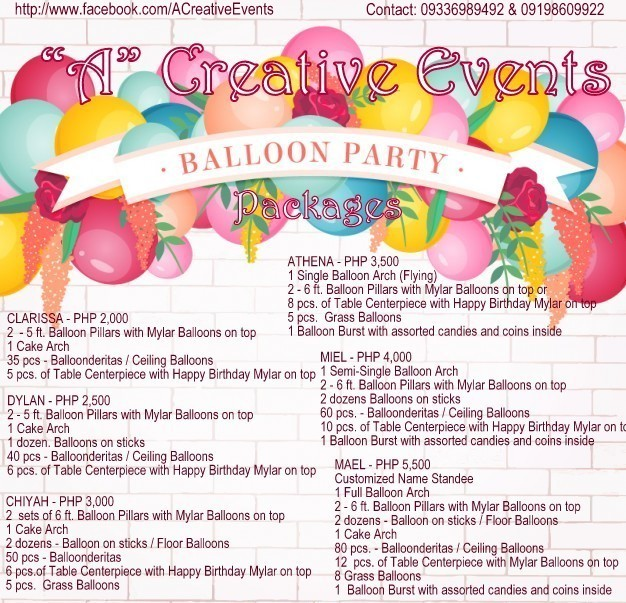 Affordable Balloon Packages Davao City