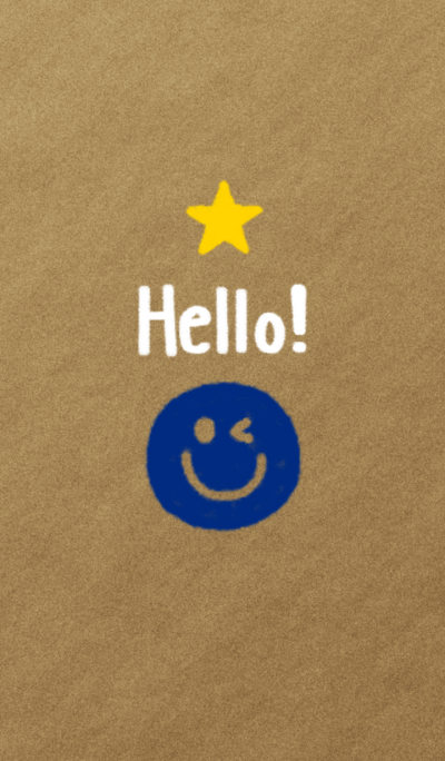 Hello! Smile(navy blue)