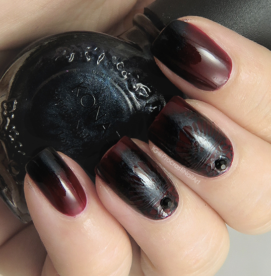 Vampy Stamping Nail Art with MoYou London and Konad
