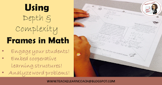 How to frame a math word problem using the prompts of Depth and Complexity and cooperative learning structures