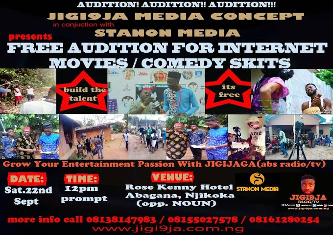 Jigi9ja Media Concept is calling you to come and develop your talent