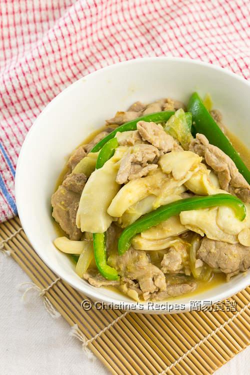 味噌蠔菇豬肉片 Miso Mushroom Pork01