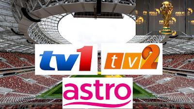 Jadual Siaran Langsung Piala Dunia 2018 (RTM & Astro)