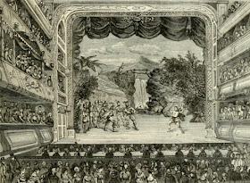 Inside Covent Garden Theatre in 1804 from Old and New London (1873)