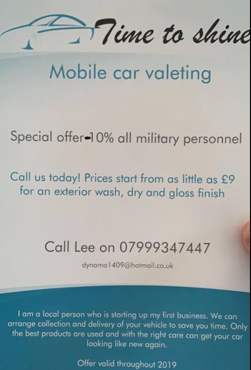 LYNEHAM HIVE: Time To Shine Mobile Car Valeting Special