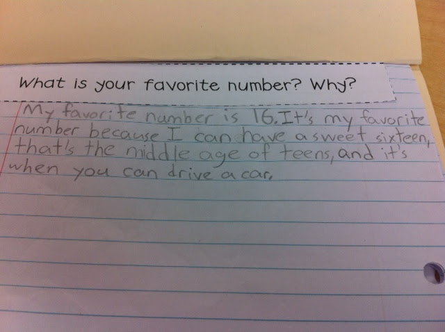 Math Journals - Sunny Days in Second Grade