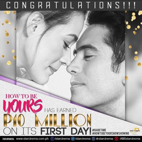 How To Be Yours opens with P10M box office gross on its first day
