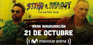 Concierto de STING & SHAGGY en Bogotá