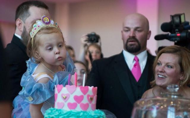 Little girl with neuroblastoma celebrated birthdays and 'wedding'