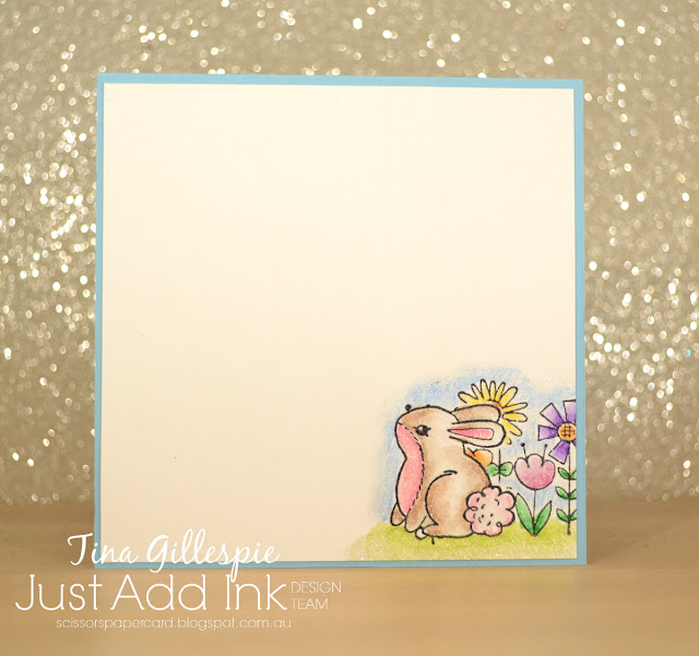 scissorspapercard, Stampin' Up!, Just Add Ink, Garden Girl, Gingham Gala DSP, Watercolour Pencils