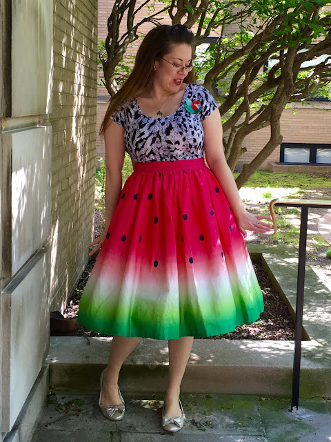 unique vinage watermelon skirt