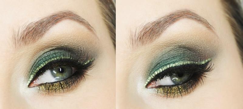 Makijaż Studniówkowykarnawałowy Zielone Smoky Eye Z Lśniącą Kreską