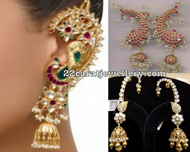 Heavy Ear Cuff Jhumkas