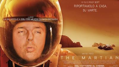 fotomontaggi satirici di politici- Matteo Renzi- The Martian