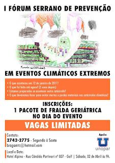 I Fórum Serrano de Prevenção em Eventos Climáticos Extremos acontece dia 02/04/16 em Teresópolis RJ