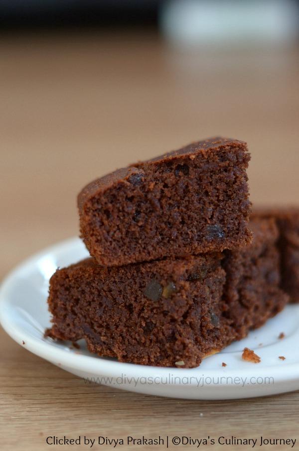 Divya S Culinary Journey Wheat And Ragi Chocolate Cake