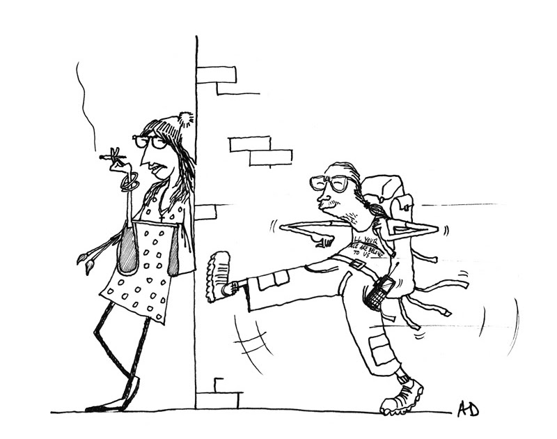 Alex Driver's Cartoon Blog: Bloody Students