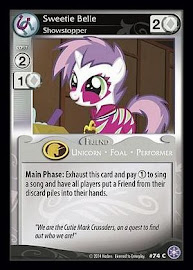 My Little Pony Sweetie Belle, Showstopper The Crystal Games CCG Card