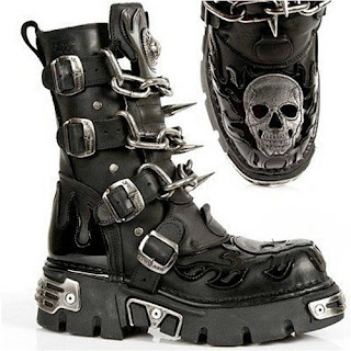 Gothic Punk Rock Biker Boots for Men